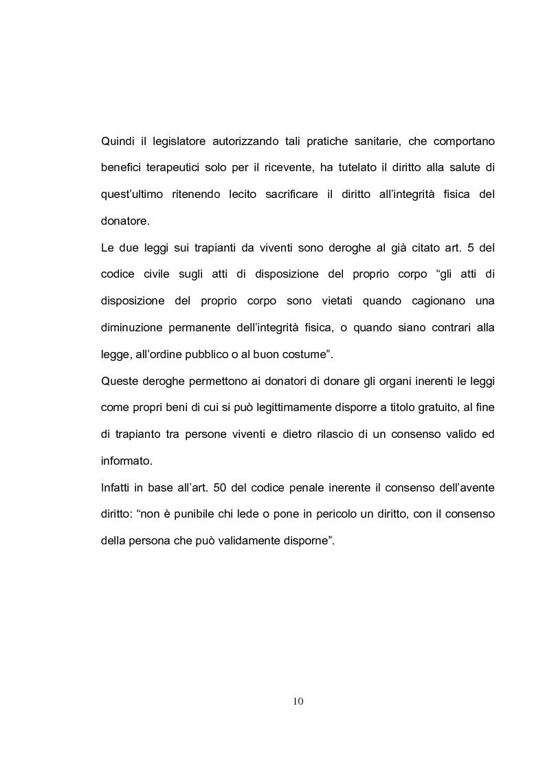 Anteprima della tesi: La tutela del donatore vivente: il ruolo dell'infermiere, Pagina 7