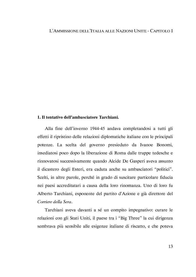 Anteprima della tesi: L'ammissione dell'Italia alle Nazioni Unite (ONU) 1945-1955, Pagina 11