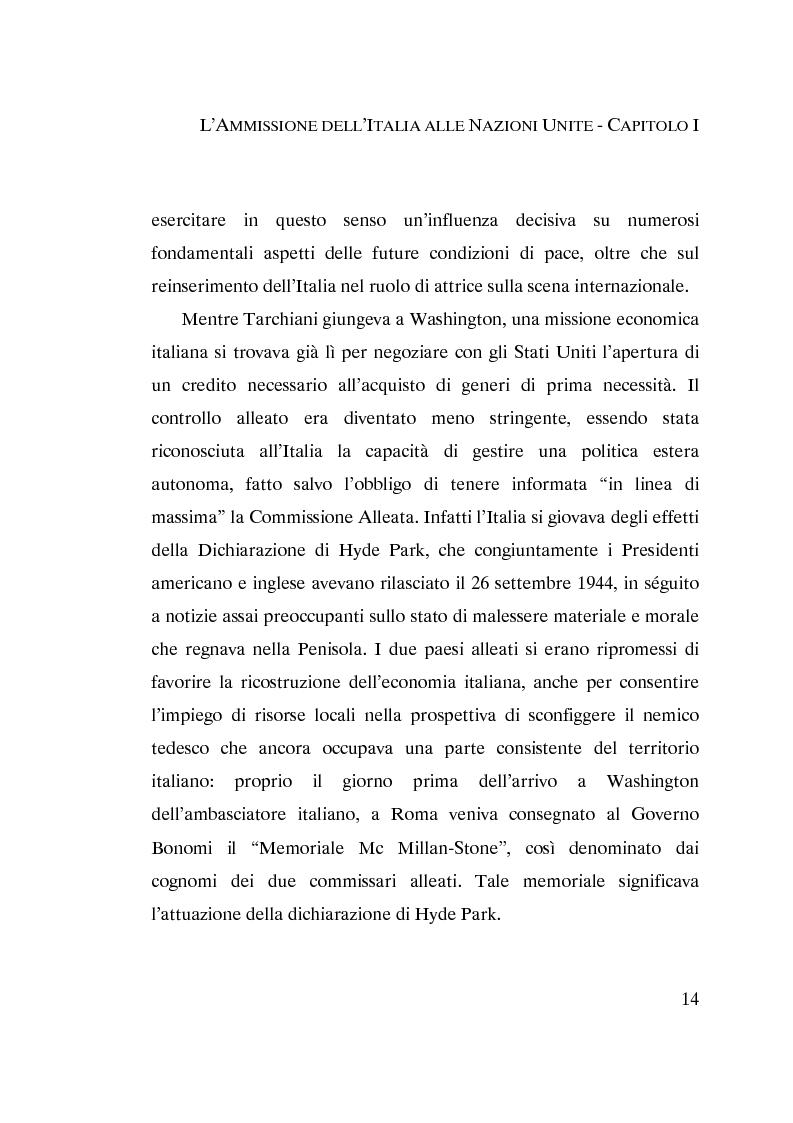 Anteprima della tesi: L'ammissione dell'Italia alle Nazioni Unite (ONU) 1945-1955, Pagina 12