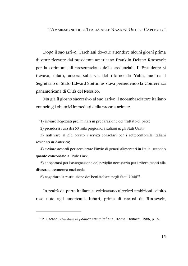 Anteprima della tesi: L'ammissione dell'Italia alle Nazioni Unite (ONU) 1945-1955, Pagina 13
