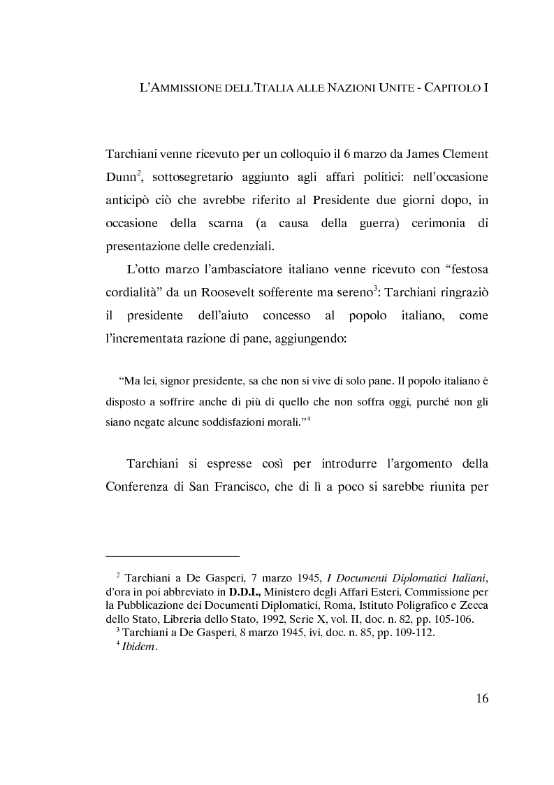 Anteprima della tesi: L'ammissione dell'Italia alle Nazioni Unite (ONU) 1945-1955, Pagina 14
