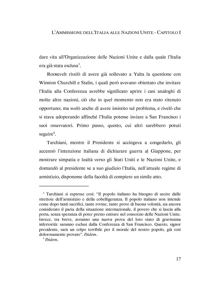 Anteprima della tesi: L'ammissione dell'Italia alle Nazioni Unite (ONU) 1945-1955, Pagina 15