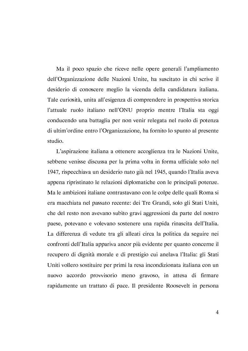 Anteprima della tesi: L'ammissione dell'Italia alle Nazioni Unite (ONU) 1945-1955, Pagina 2