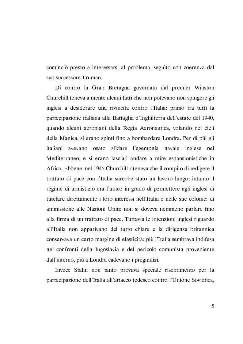 Anteprima della tesi: L'ammissione dell'Italia alle Nazioni Unite (ONU) 1945-1955, Pagina 3