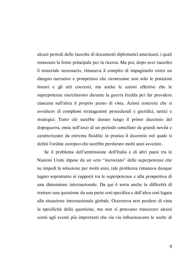 Anteprima della tesi: L'ammissione dell'Italia alle Nazioni Unite (ONU) 1945-1955, Pagina 6