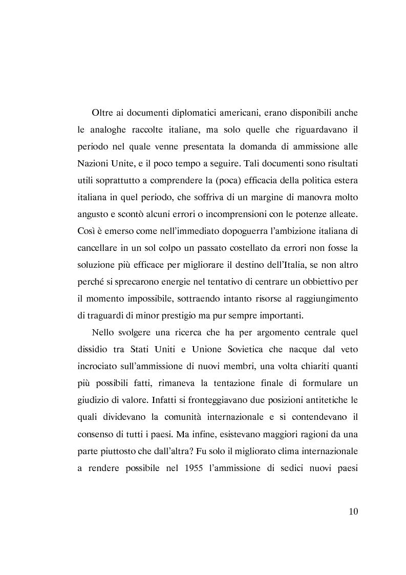 Anteprima della tesi: L'ammissione dell'Italia alle Nazioni Unite (ONU) 1945-1955, Pagina 8