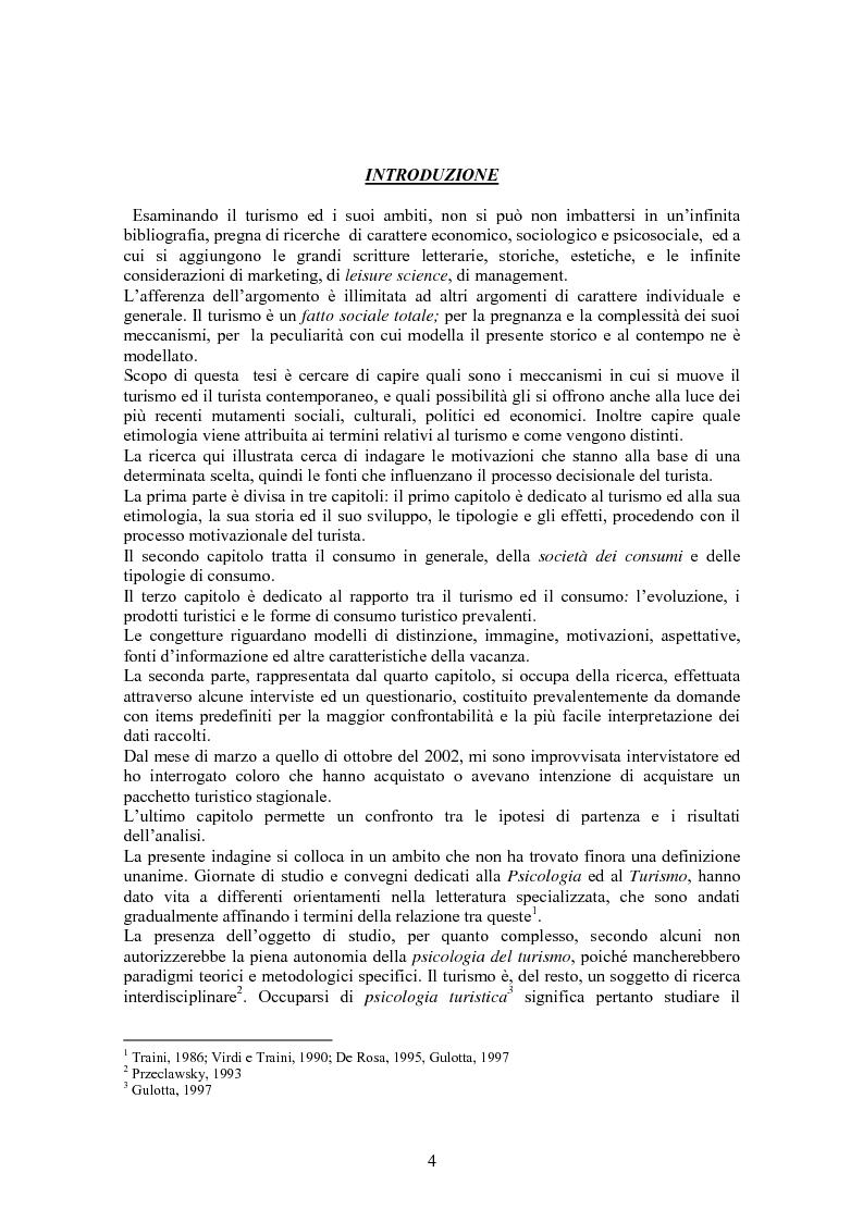 Anteprima della tesi: Turismo & consumo, Pagina 1