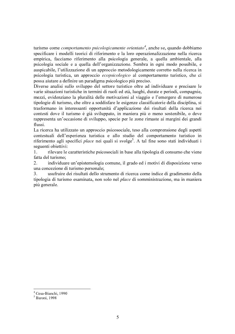 Anteprima della tesi: Turismo & consumo, Pagina 2