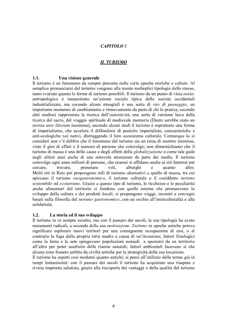 Anteprima della tesi: Turismo & consumo, Pagina 3
