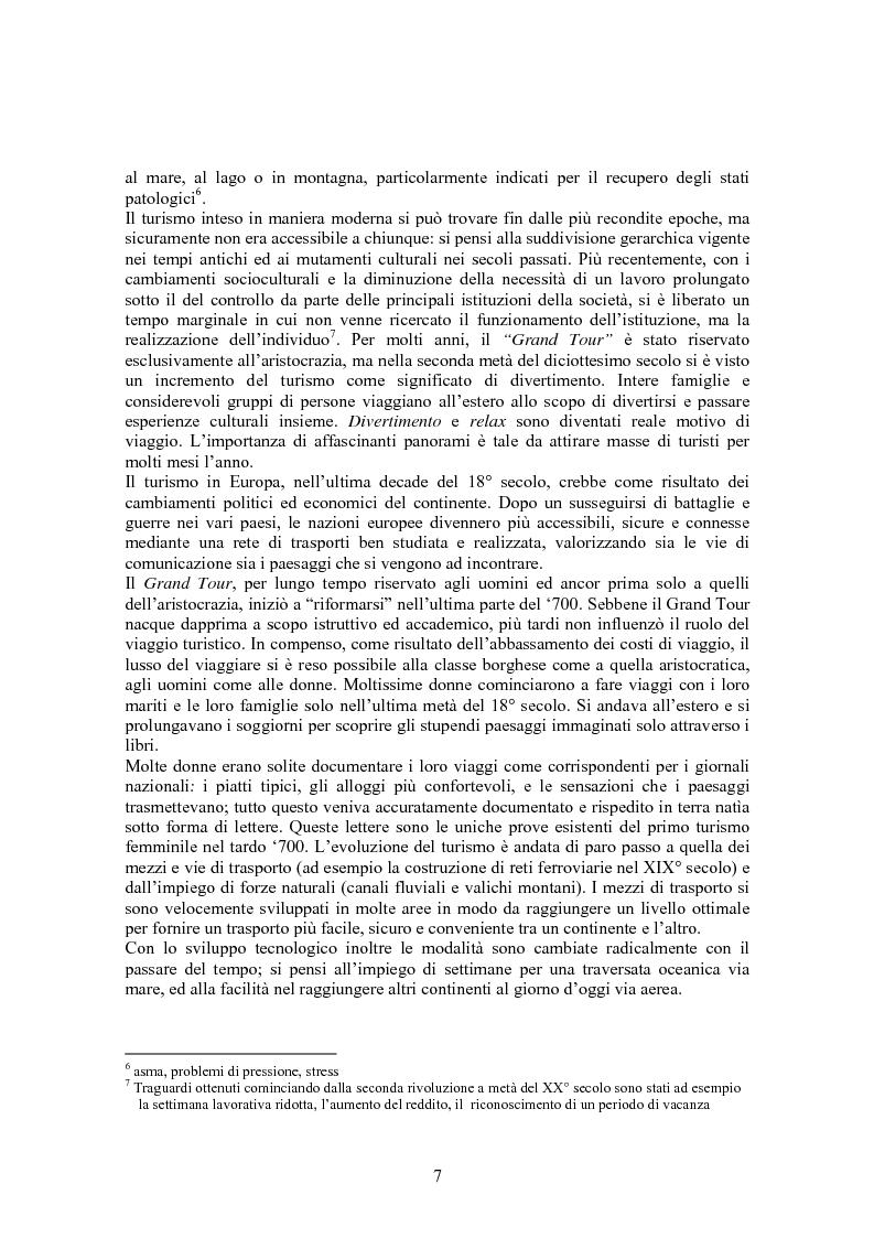Anteprima della tesi: Turismo & consumo, Pagina 4