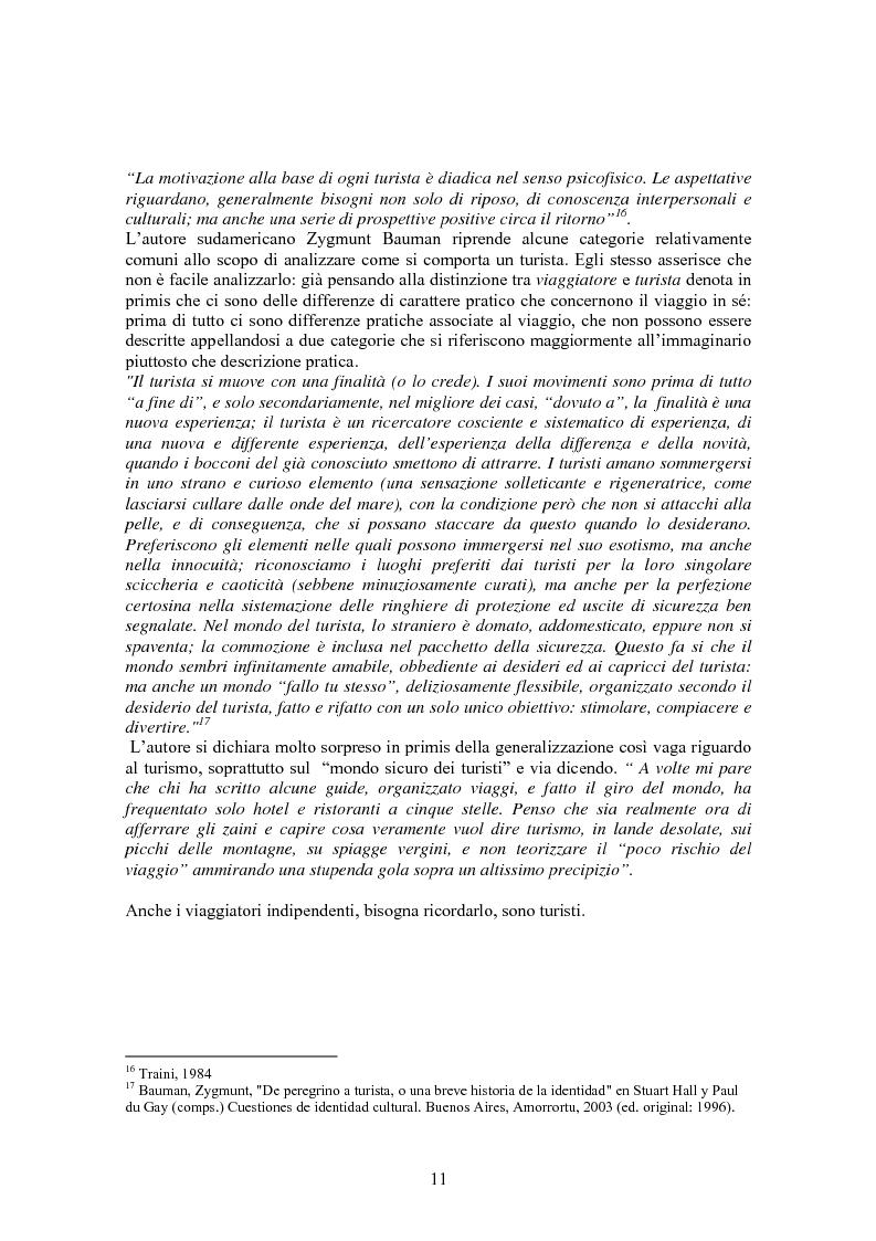 Anteprima della tesi: Turismo & consumo, Pagina 8