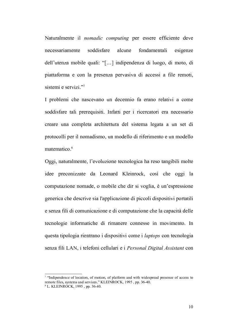 Anteprima della tesi: Internet e la computazione nomade: Opportunità e rischi, Pagina 6