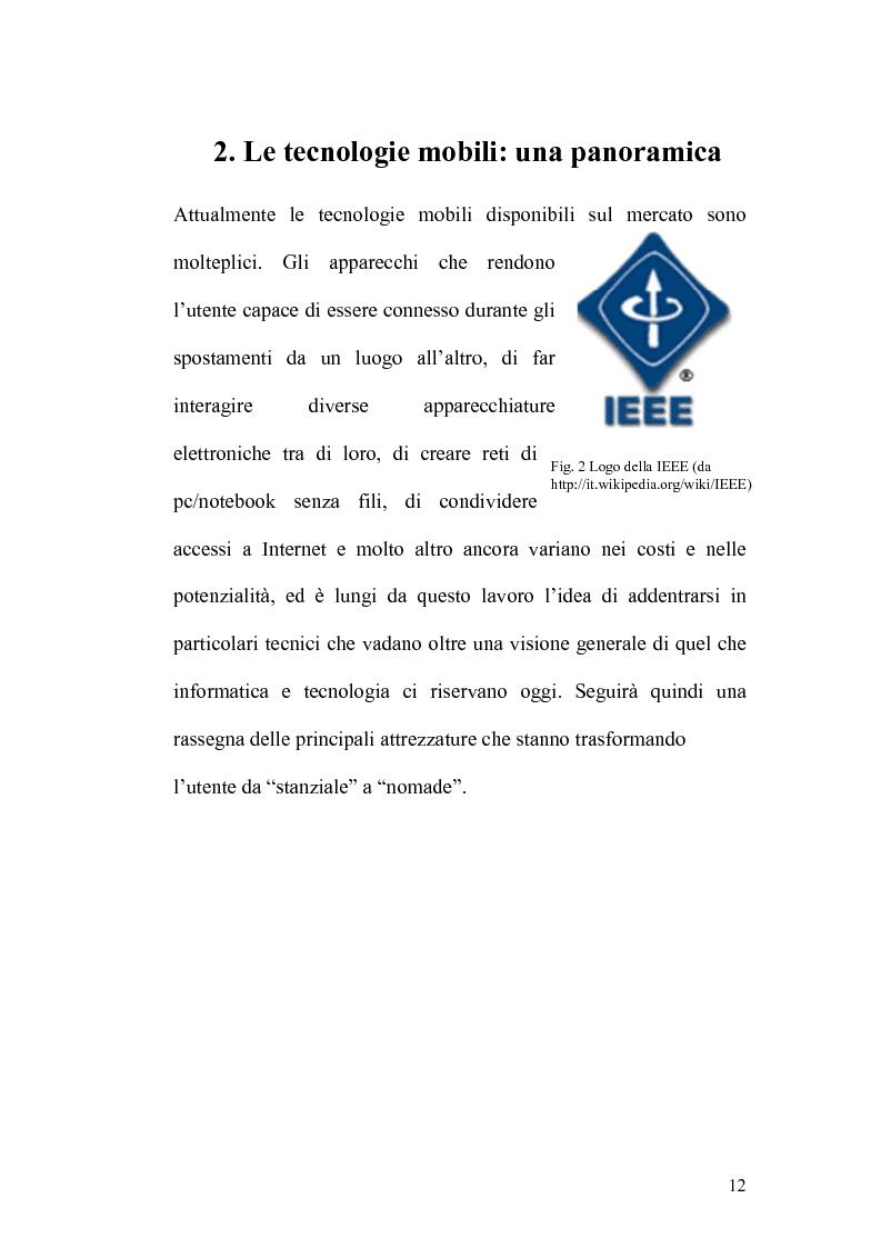 Anteprima della tesi: Internet e la computazione nomade: Opportunità e rischi, Pagina 8