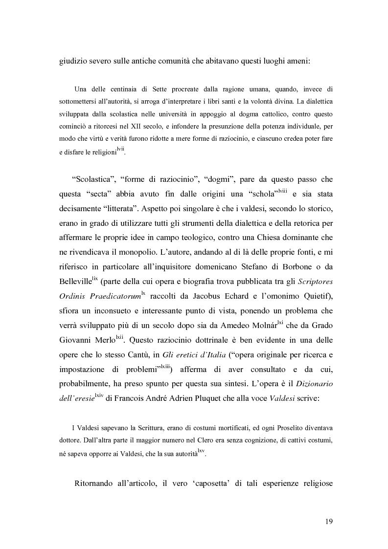 Anteprima della tesi: Eretici e inquisitori medievali nell'opera di Cesare Cantù, Pagina 10