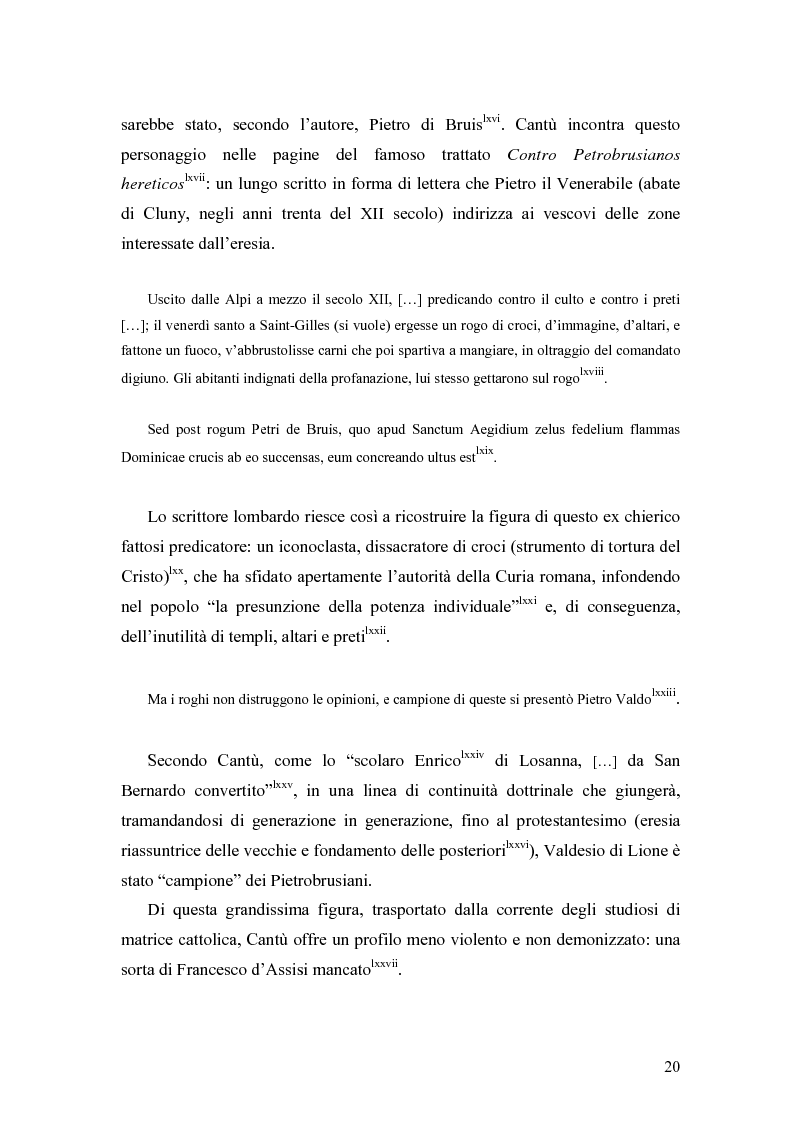 Anteprima della tesi: Eretici e inquisitori medievali nell'opera di Cesare Cantù, Pagina 11