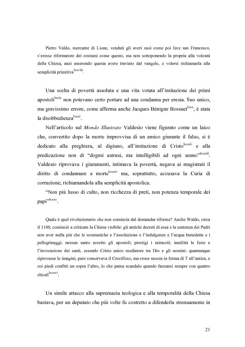 Anteprima della tesi: Eretici e inquisitori medievali nell'opera di Cesare Cantù, Pagina 12