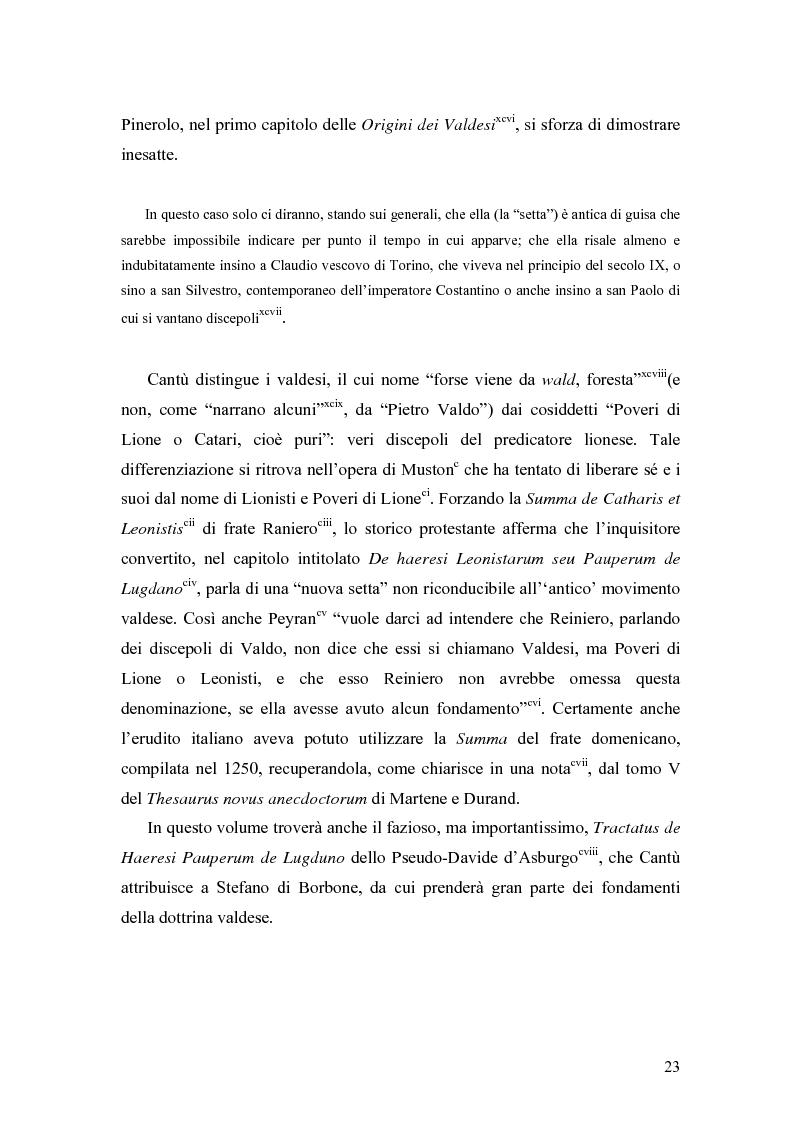 Anteprima della tesi: Eretici e inquisitori medievali nell'opera di Cesare Cantù, Pagina 14