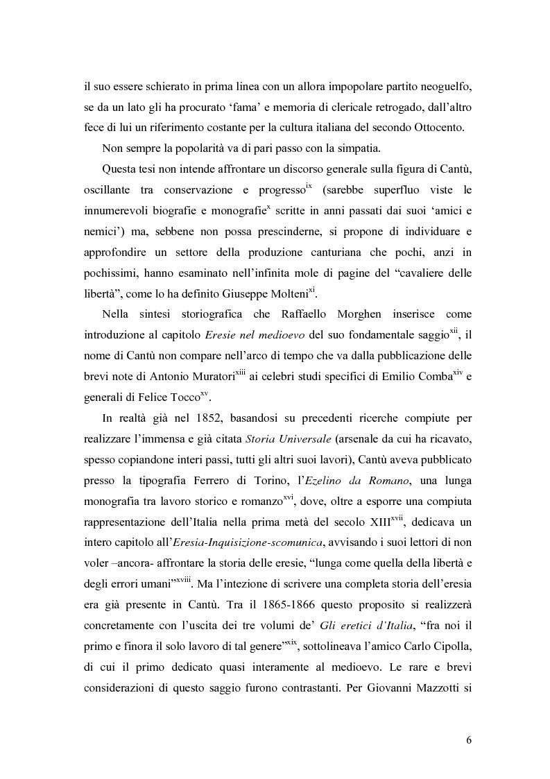Anteprima della tesi: Eretici e inquisitori medievali nell'opera di Cesare Cantù, Pagina 2