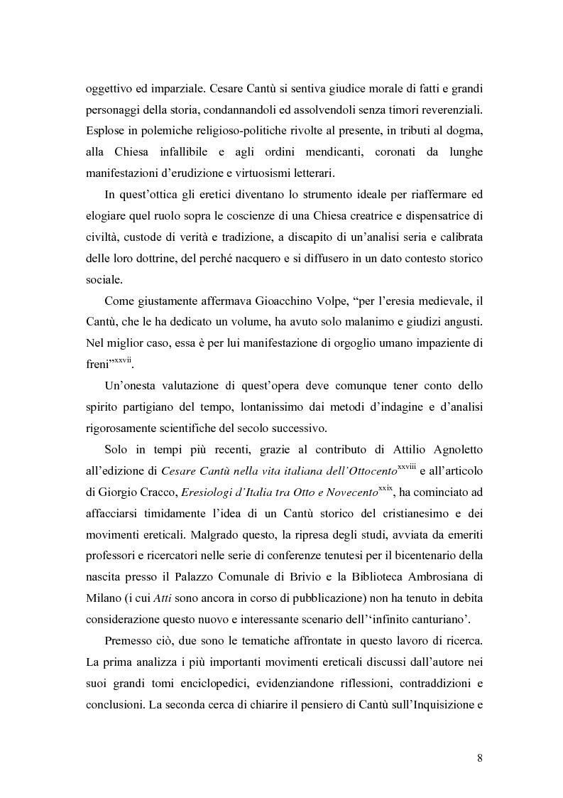 Anteprima della tesi: Eretici e inquisitori medievali nell'opera di Cesare Cantù, Pagina 4