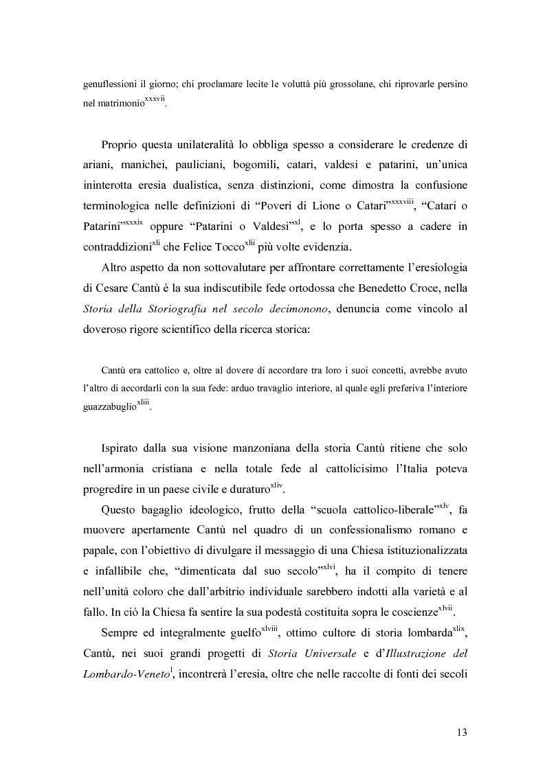 Anteprima della tesi: Eretici e inquisitori medievali nell'opera di Cesare Cantù, Pagina 7