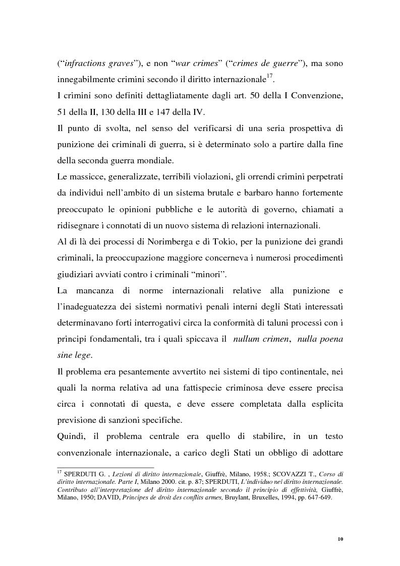 Anteprima della tesi: La repressione dei crimini di guerra: i tribunali ad hoc dell'ex Jugoslavia e del Ruanda, Pagina 10