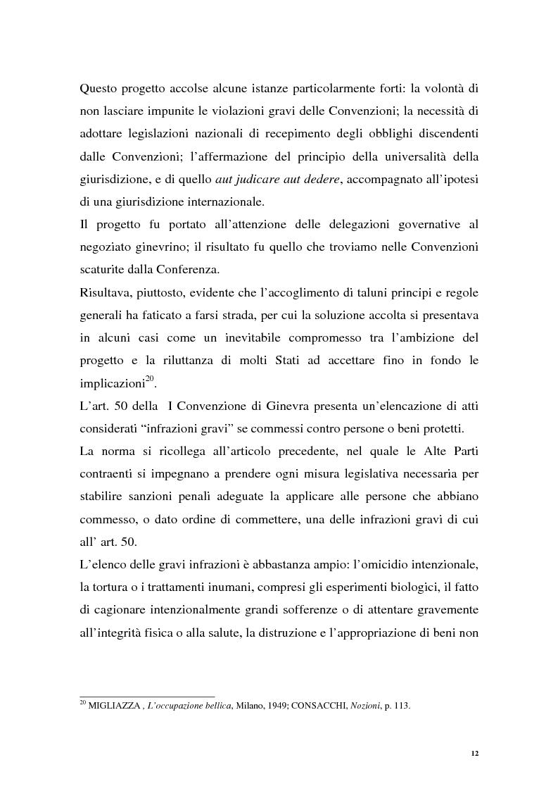 Anteprima della tesi: La repressione dei crimini di guerra: i tribunali ad hoc dell'ex Jugoslavia e del Ruanda, Pagina 12