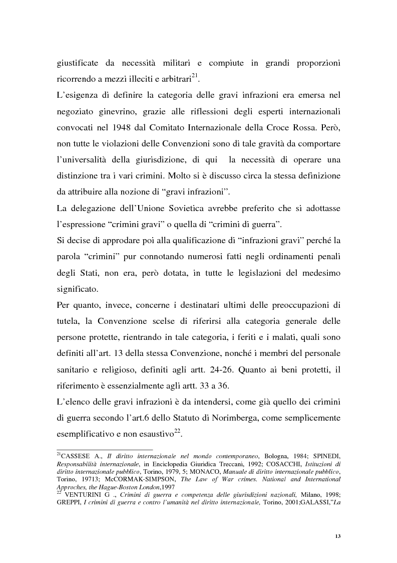 Anteprima della tesi: La repressione dei crimini di guerra: i tribunali ad hoc dell'ex Jugoslavia e del Ruanda, Pagina 13