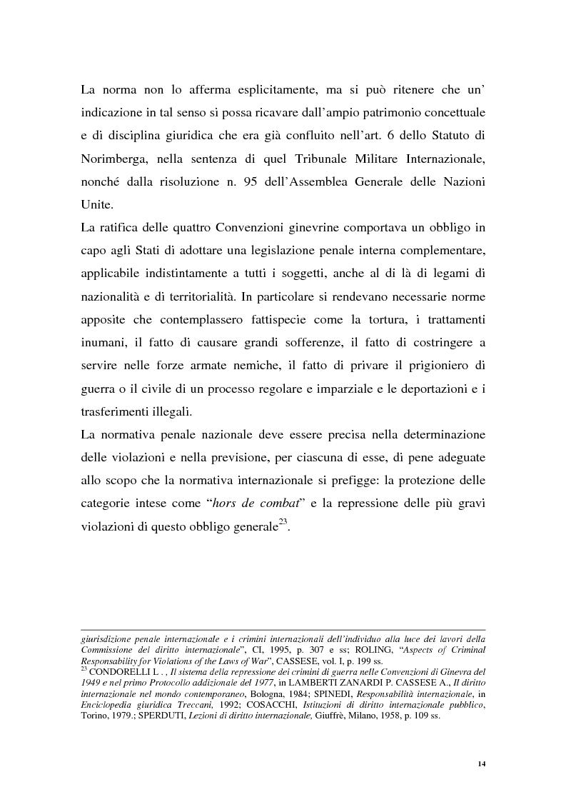 Anteprima della tesi: La repressione dei crimini di guerra: i tribunali ad hoc dell'ex Jugoslavia e del Ruanda, Pagina 14