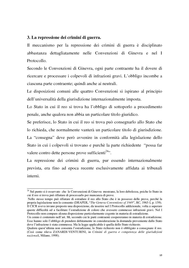 Anteprima della tesi: La repressione dei crimini di guerra: i tribunali ad hoc dell'ex Jugoslavia e del Ruanda, Pagina 15