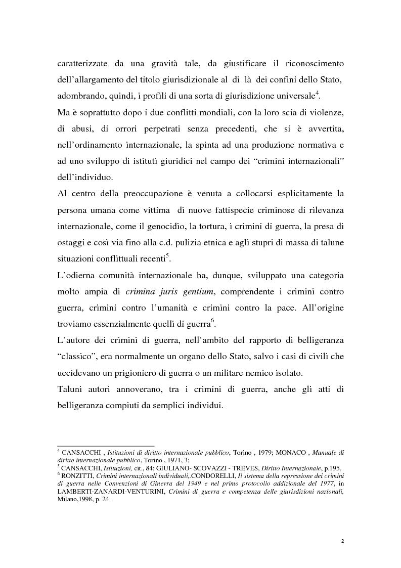 Anteprima della tesi: La repressione dei crimini di guerra: i tribunali ad hoc dell'ex Jugoslavia e del Ruanda, Pagina 2