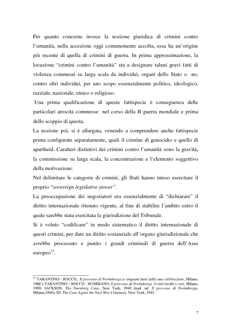 Anteprima della tesi: La repressione dei crimini di guerra: i tribunali ad hoc dell'ex Jugoslavia e del Ruanda, Pagina 7