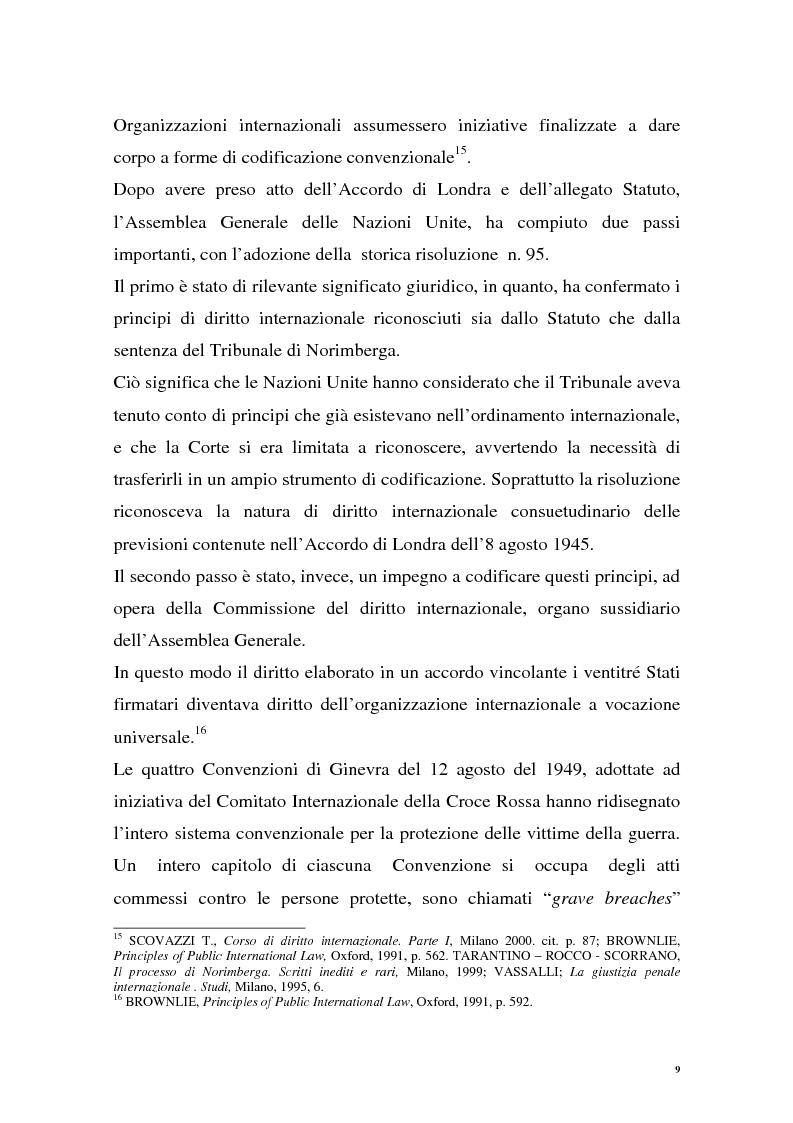 Anteprima della tesi: La repressione dei crimini di guerra: i tribunali ad hoc dell'ex Jugoslavia e del Ruanda, Pagina 9
