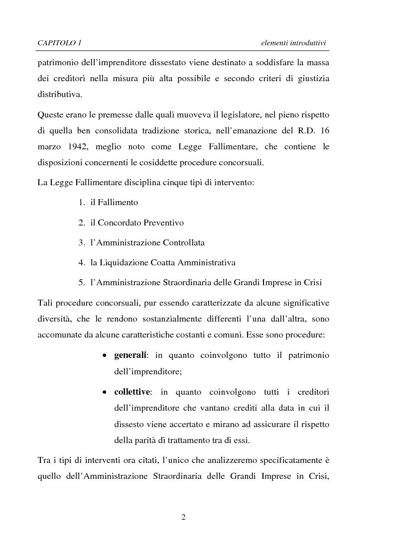 Anteprima della tesi: La Ristrutturazione di una Grande Impresa in crisi: il caso Parmalat, Pagina 2