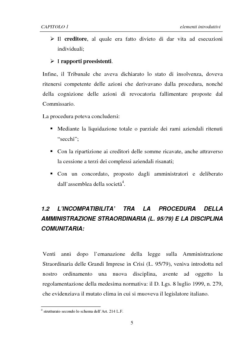Anteprima della tesi: La Ristrutturazione di una Grande Impresa in crisi: il caso Parmalat, Pagina 5