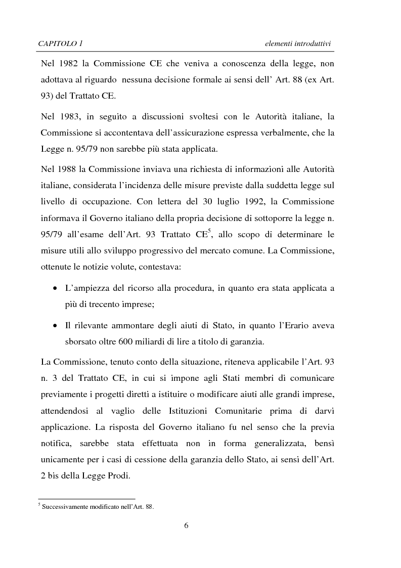 Anteprima della tesi: La Ristrutturazione di una Grande Impresa in crisi: il caso Parmalat, Pagina 6
