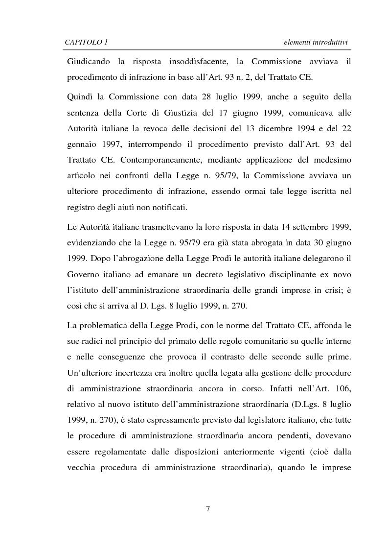 Anteprima della tesi: La Ristrutturazione di una Grande Impresa in crisi: il caso Parmalat, Pagina 7