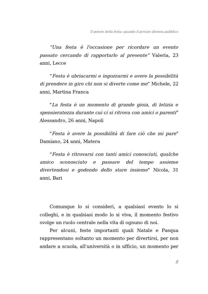 Anteprima della tesi: Il potere della festa: quando il privato diventa pubblico, Pagina 2