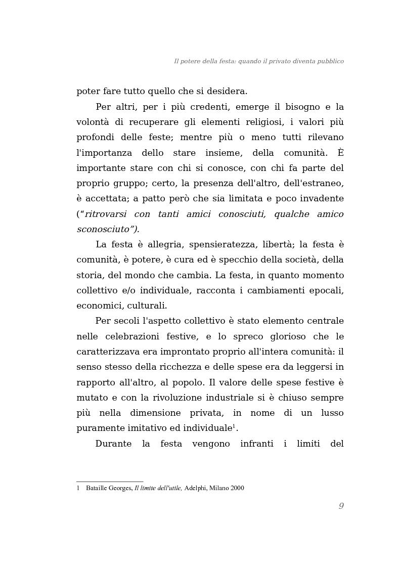 Anteprima della tesi: Il potere della festa: quando il privato diventa pubblico, Pagina 3