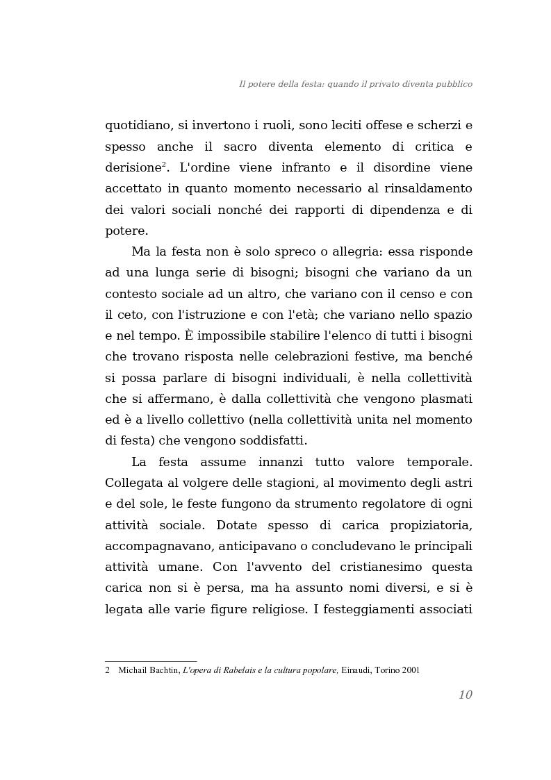 Anteprima della tesi: Il potere della festa: quando il privato diventa pubblico, Pagina 4