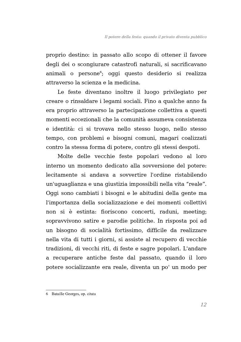 Anteprima della tesi: Il potere della festa: quando il privato diventa pubblico, Pagina 6