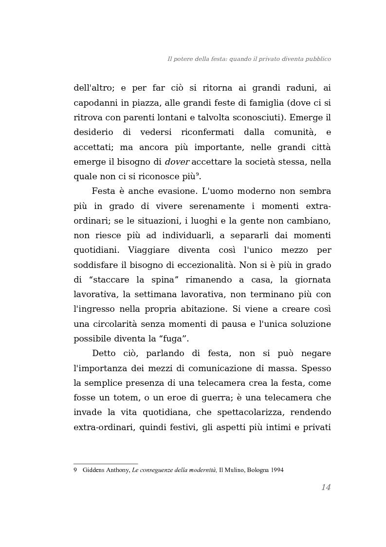 Anteprima della tesi: Il potere della festa: quando il privato diventa pubblico, Pagina 8