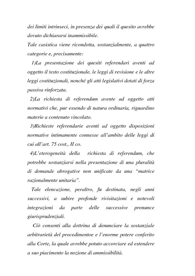 Anteprima della tesi: Il giudizio di ammissibilità sul referendum abrogativo, Pagina 4