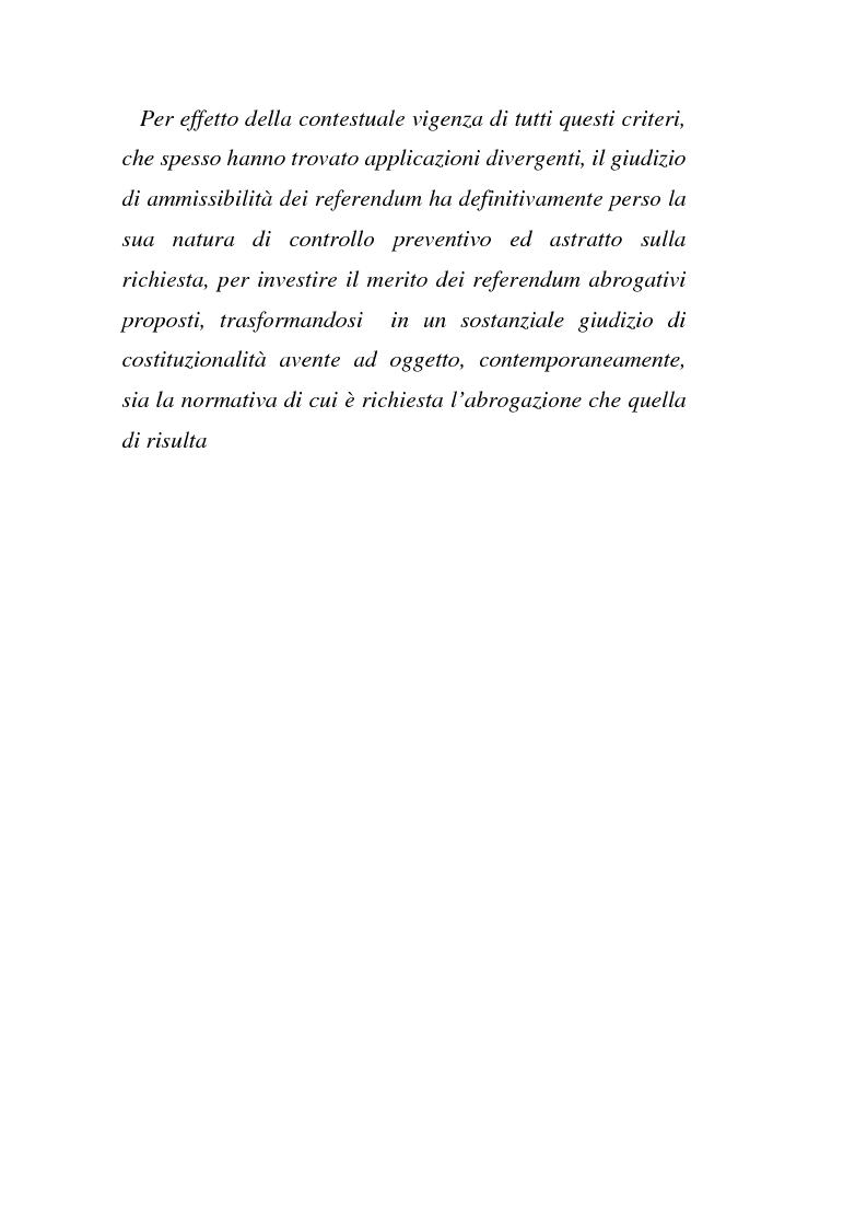 Anteprima della tesi: Il giudizio di ammissibilità sul referendum abrogativo, Pagina 6