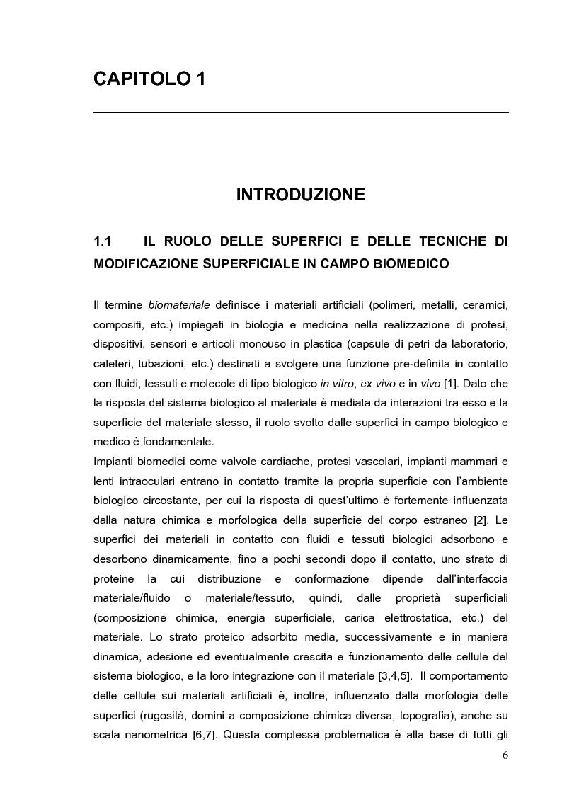 Anteprima della tesi: Deposizione via plasma di film sottili con proprietà acido-base variabili, Pagina 3