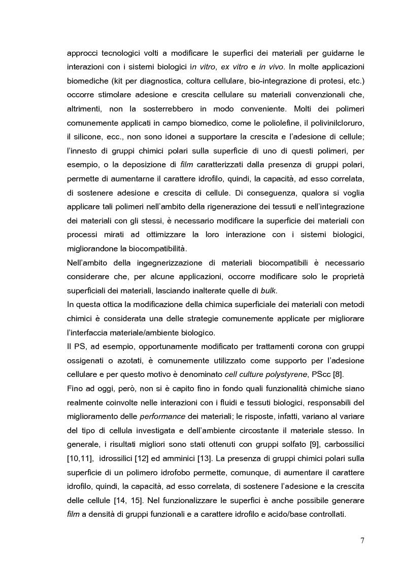 Anteprima della tesi: Deposizione via plasma di film sottili con proprietà acido-base variabili, Pagina 4