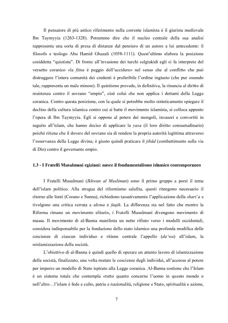 Anteprima della tesi: Hamas. Ideologia, politica, logica d'azione di un movimento islamista palestinese, Pagina 4