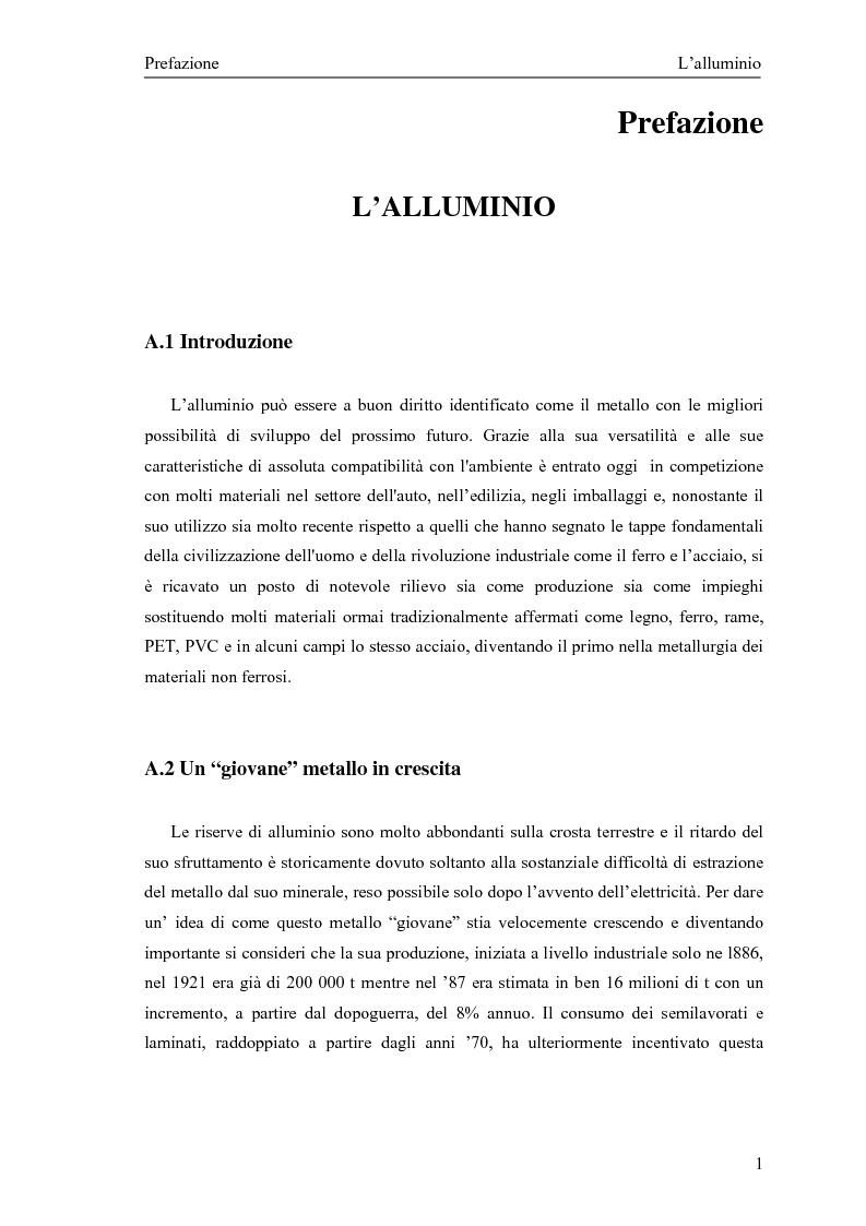 Anteprima della tesi: Valutazione della corretta tipologia di forno fusorio per alluminio secondario, Pagina 1