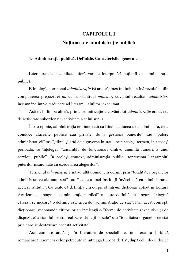 Anteprima della tesi: Conceptul autonomiei locale si controlul ierarhic, Pagina 1