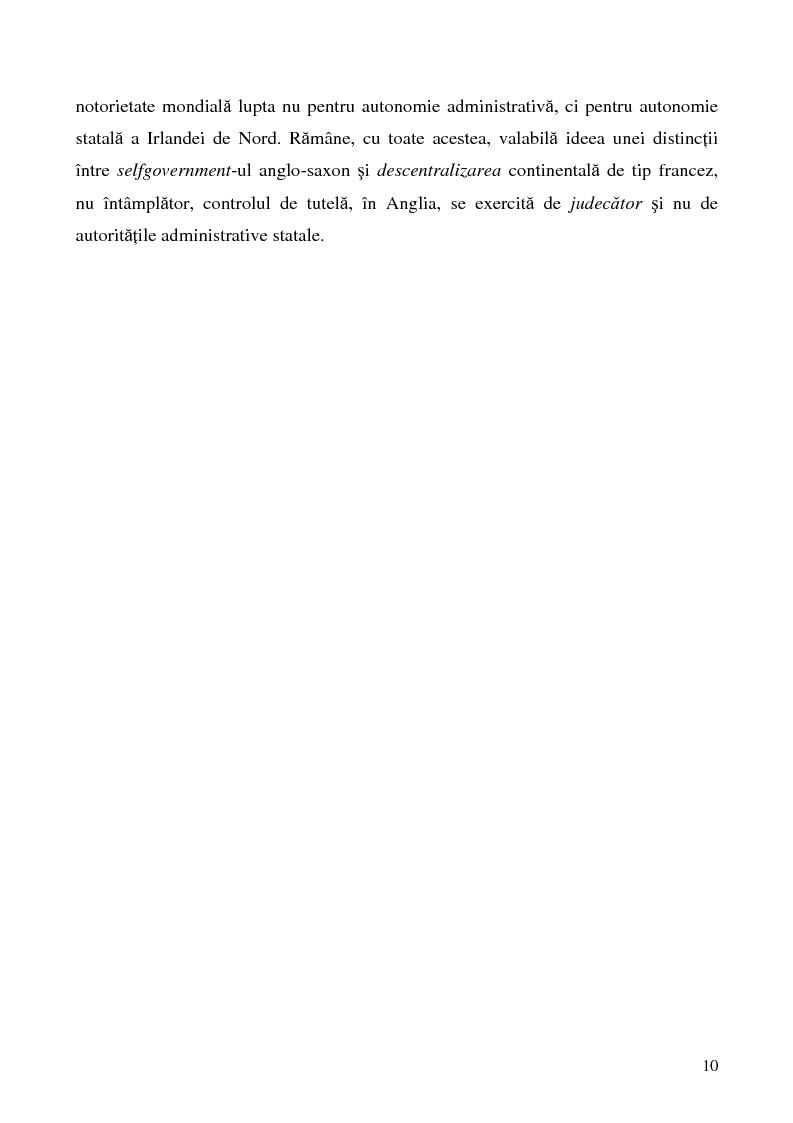 Anteprima della tesi: Conceptul autonomiei locale si controlul ierarhic, Pagina 10
