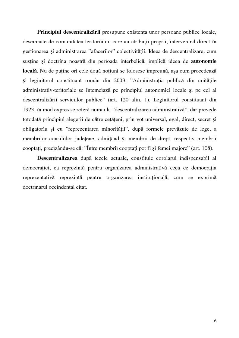 Anteprima della tesi: Conceptul autonomiei locale si controlul ierarhic, Pagina 6